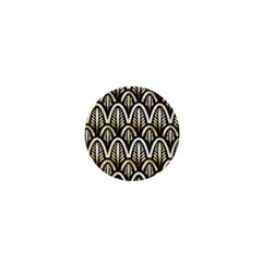 Art Deco Gold Black Shell Pattern 1  Mini Buttons by Love888