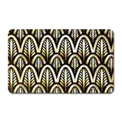 Art Deco Gold Black Shell Pattern Magnet (rectangular) by 8fugoso