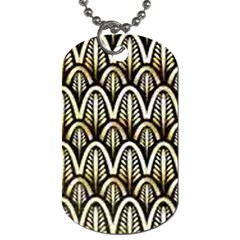 Art Deco Gold Black Shell Pattern Dog Tag (two Sides) by 8fugoso