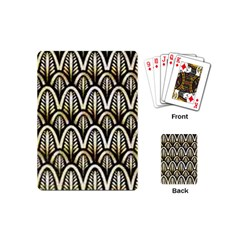 Art Deco Gold Black Shell Pattern Playing Cards (mini)  by 8fugoso
