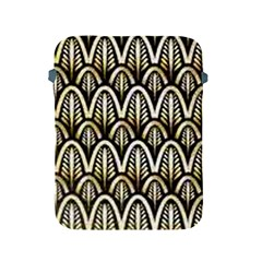 Art Deco Gold Black Shell Pattern Apple Ipad 2/3/4 Protective Soft Cases by 8fugoso