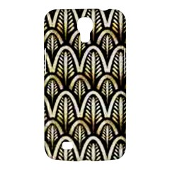 Art Deco Gold Black Shell Pattern Samsung Galaxy Mega 6 3  I9200 Hardshell Case by 8fugoso