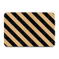 Stripes3 Black Marble & Natural White Birch Wood (r) Plate Mats by trendistuff