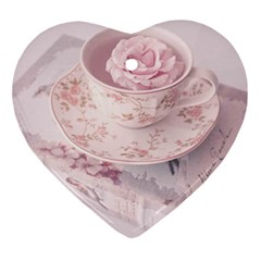 Shabby Chic High Tea Ornament (heart) by 8fugoso