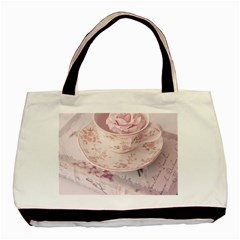 Shabby Chic High Tea Basic Tote Bag (two Sides) by 8fugoso