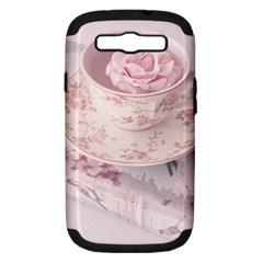 Shabby Chic High Tea Samsung Galaxy S Iii Hardshell Case (pc+silicone) by 8fugoso