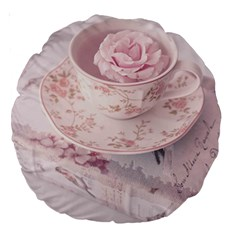 Shabby Chic High Tea Large 18  Premium Round Cushions by 8fugoso