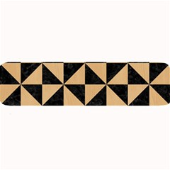 Triangle1 Black Marble & Natural White Birch Wood Large Bar Mats by trendistuff