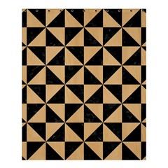 Triangle1 Black Marble & Natural White Birch Wood Shower Curtain 60  X 72  (medium)  by trendistuff