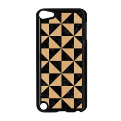 Triangle1 Black Marble & Natural White Birch Wood Apple Ipod Touch 5 Case (black) by trendistuff