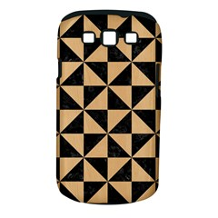 Triangle1 Black Marble & Natural White Birch Wood Samsung Galaxy S Iii Classic Hardshell Case (pc+silicone) by trendistuff