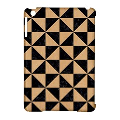 Triangle1 Black Marble & Natural White Birch Wood Apple Ipad Mini Hardshell Case (compatible With Smart Cover) by trendistuff
