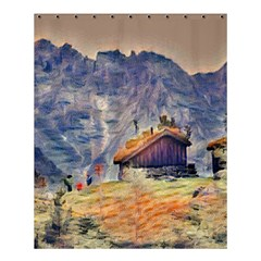 Impressionism Shower Curtain 60  X 72  (medium)  by 8fugoso