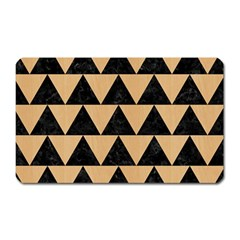 Triangle2 Black Marble & Natural White Birch Wood Magnet (rectangular) by trendistuff