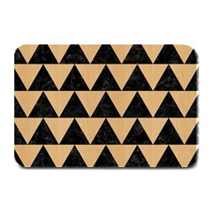 Triangle2 Black Marble & Natural White Birch Wood Plate Mats by trendistuff