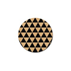 Triangle3 Black Marble & Natural White Birch Wood Golf Ball Marker by trendistuff