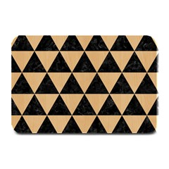 Triangle3 Black Marble & Natural White Birch Wood Plate Mats by trendistuff
