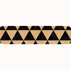 Triangle3 Black Marble & Natural White Birch Wood Large Bar Mats by trendistuff