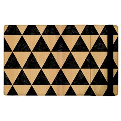Triangle3 Black Marble & Natural White Birch Wood Apple Ipad 3/4 Flip Case by trendistuff