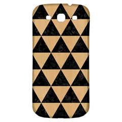 Triangle3 Black Marble & Natural White Birch Wood Samsung Galaxy S3 S Iii Classic Hardshell Back Case by trendistuff
