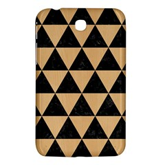 Triangle3 Black Marble & Natural White Birch Wood Samsung Galaxy Tab 3 (7 ) P3200 Hardshell Case