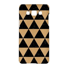 Triangle3 Black Marble & Natural White Birch Wood Samsung Galaxy A5 Hardshell Case  by trendistuff