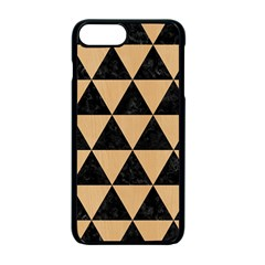Triangle3 Black Marble & Natural White Birch Wood Apple Iphone 7 Plus Seamless Case (black) by trendistuff