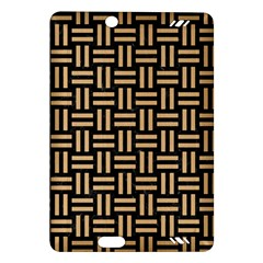 Woven1 Black Marble & Natural White Birch Wood Amazon Kindle Fire Hd (2013) Hardshell Case by trendistuff