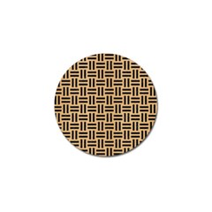 Woven1 Black Marble & Natural White Birch Wood (r) Golf Ball Marker (10 Pack) by trendistuff
