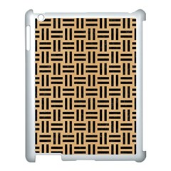 Woven1 Black Marble & Natural White Birch Wood (r) Apple Ipad 3/4 Case (white) by trendistuff