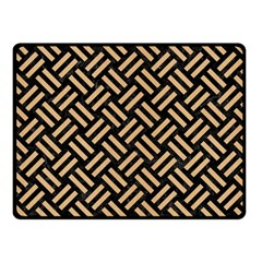 Woven2 Black Marble & Natural White Birch Wood Fleece Blanket (small) by trendistuff