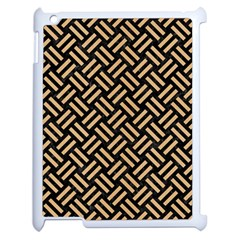Woven2 Black Marble & Natural White Birch Wood Apple Ipad 2 Case (white) by trendistuff
