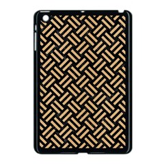 Woven2 Black Marble & Natural White Birch Wood Apple Ipad Mini Case (black) by trendistuff