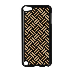 Woven2 Black Marble & Natural White Birch Wood Apple Ipod Touch 5 Case (black) by trendistuff