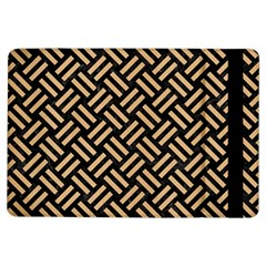Woven2 Black Marble & Natural White Birch Wood Ipad Air Flip by trendistuff