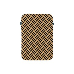 Woven2 Black Marble & Natural White Birch Wood (r) Apple Ipad Mini Protective Soft Cases by trendistuff