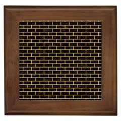 Brick1 Black Marble & Orange Colored Pencil Framed Tiles by trendistuff