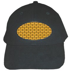 Brick1 Black Marble & Orange Colored Pencil (r) Black Cap by trendistuff