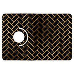 Brick2 Black Marble & Orange Colored Pencil Kindle Fire Hdx Flip 360 Case by trendistuff