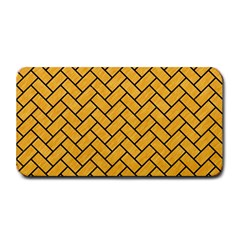 Brick2 Black Marble & Orange Colored Pencil (r) Medium Bar Mats by trendistuff