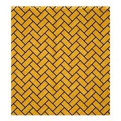 Brick2 Black Marble & Orange Colored Pencil (r) Shower Curtain 66  X 72  (large)  by trendistuff