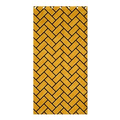 Brick2 Black Marble & Orange Colored Pencil (r) Shower Curtain 36  X 72  (stall)  by trendistuff