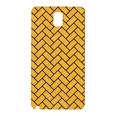Brick2 Black Marble & Orange Colored Pencil (r) Samsung Galaxy Note 3 N9005 Hardshell Back Case by trendistuff