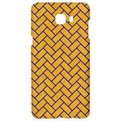 Brick2 Black Marble & Orange Colored Pencil (r) Samsung C9 Pro Hardshell Case  by trendistuff