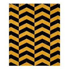 Chevron2 Black Marble & Orange Colored Pencil Shower Curtain 60  X 72  (medium)  by trendistuff