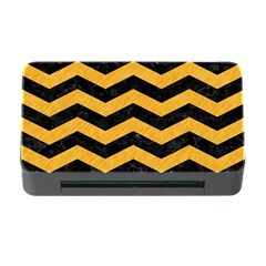 Chevron3 Black Marble & Orange Colored Pencil Memory Card Reader With Cf by trendistuff