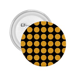 Circles1 Black Marble & Orange Colored Pencil 2 25  Buttons by trendistuff