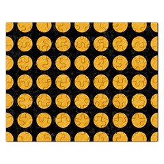 Circles1 Black Marble & Orange Colored Pencil Rectangular Jigsaw Puzzl by trendistuff