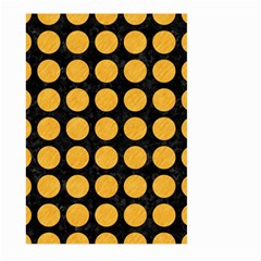 Circles1 Black Marble & Orange Colored Pencil Large Garden Flag (two Sides) by trendistuff