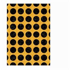 Circles1 Black Marble & Orange Colored Pencil (r) Large Garden Flag (two Sides) by trendistuff